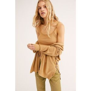 Free people weekend breeze set cardigan neutral SM
